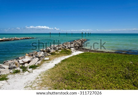 View across Tampa Bay from Anna Maria Island, Florida