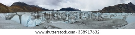 View across the Viedma Glacier in Argentina - stock photo