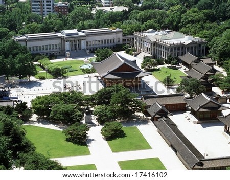 View and Landscape of Seoul - stock photo