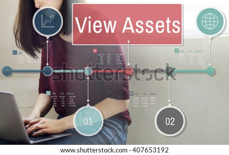 View Assets Savings Investment Value Concept - stock photo