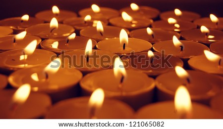 view at candles - stock photo
