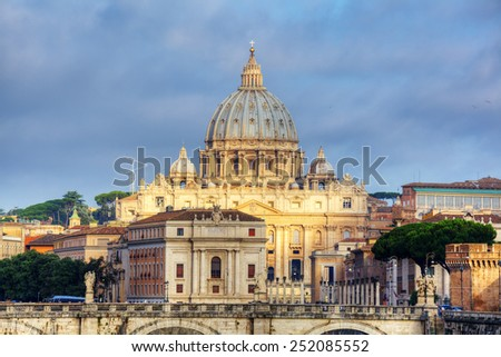 view at St. Peter's Basilica in Rome, Italy