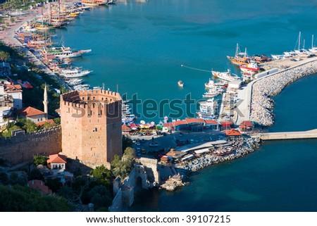 View at the Alanya, Turkey - stock photo