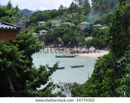 View at the beach, Ko Tao Island, Thailand - stock photo