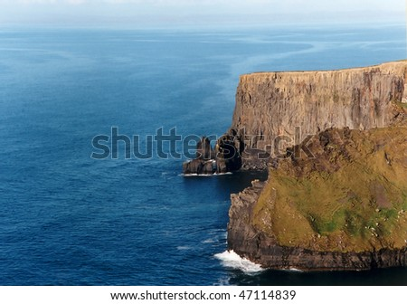 "View at the famous ""Cliffs of Moher"" in Republic of Ireland - stock photo"
