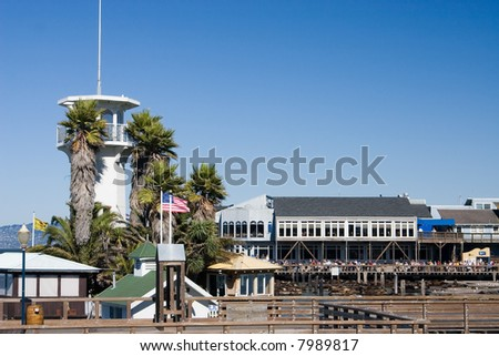 View at the famous pier 39 in San Francisco - stock photo