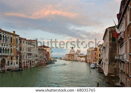 View at the Grand Canal in Venice, Italy - stock photo
