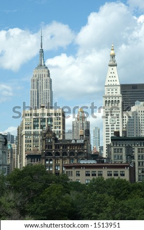 View at the midtown New York from Union Square