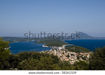 View at town Mali Losinj on island Losinj, Croatia. - stock photo