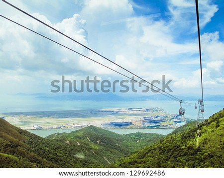 View down from the cable car