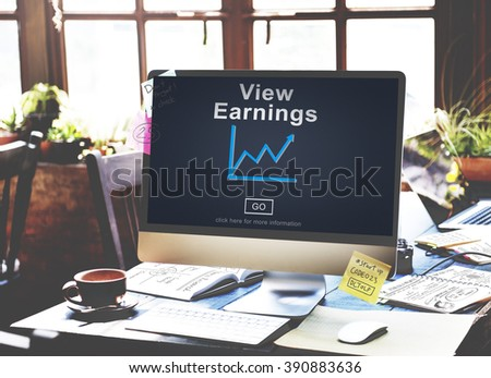 View Earnings Budget Finance Investment Income Concept - stock photo