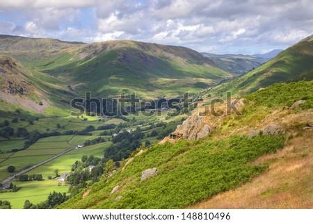 View from Alcock Tarn near Grasmere, Cumbria, England - stock photo