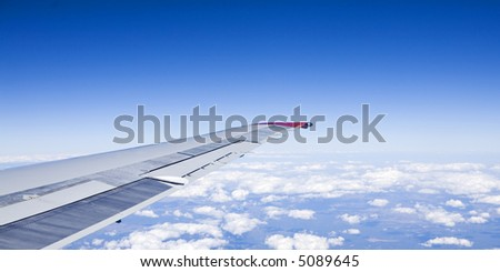 View from an Aircraft Window - stock photo