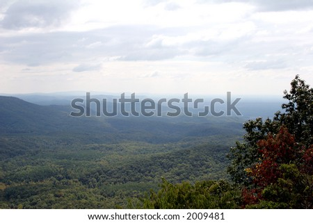 View from atop Fort Mountain in Georgia.