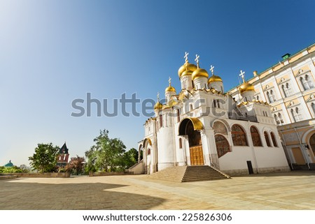 View from below of Annunciation Cathedral - stock photo