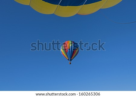 View From Below While Looking Up From Another Hot Air Balloon At Letchworth State Park In New York