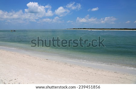 View from Caladesi Island, Florida - stock photo