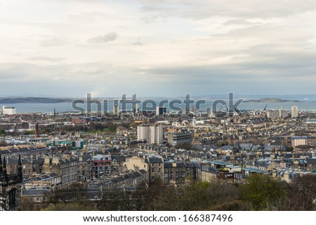 View from Calton Hill. Edinburgh. Scotland. UK.