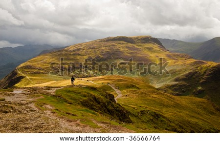 View from Catbells summit in Lake District