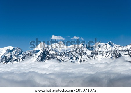 View from Cho La Pass - Nepal