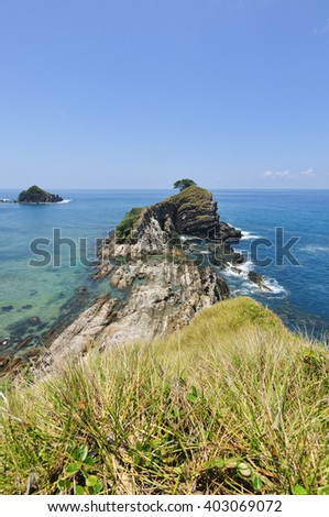 View From Cliff at Kapas Island,Malaysia - stock photo