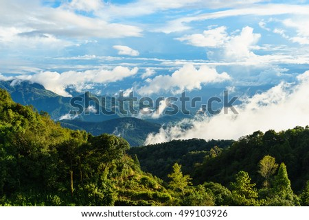View from Doi Inthanon viewpoint,chiang mai, thailand