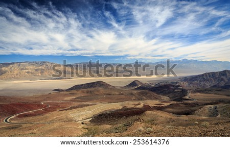 View from Father Crowley Vista in Death Valley National Park - stock photo