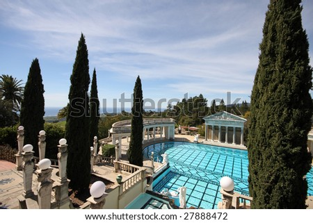 view from Hearst Castle, California - stock photo