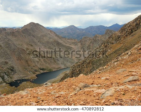 view from hiking on mount evans, colorado