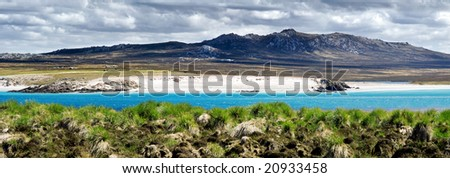View from Kidney Island, Falkland Islands - stock photo