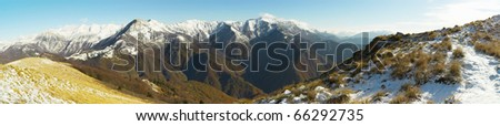 View from Kobilja glava, Slovenia - stock photo