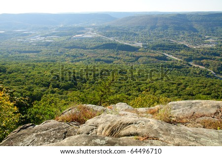 view from Lookout Mountain - stock photo