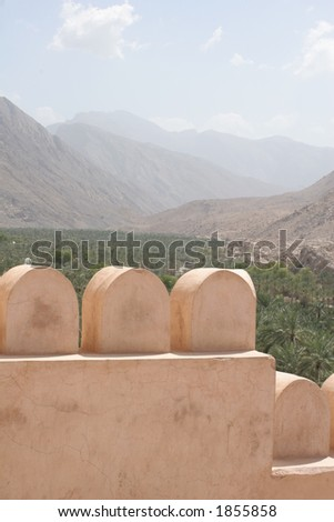 View from Nakhal Fort - stock photo