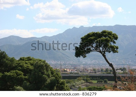 View from Pompeii, Italy. - stock photo