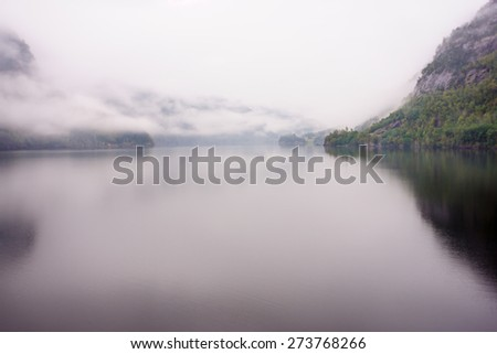 View from road 7, Norway - stock photo