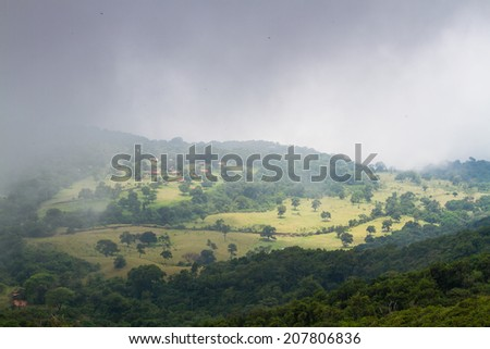View from Santa Ana volcano, El Salvador, Central America - stock photo