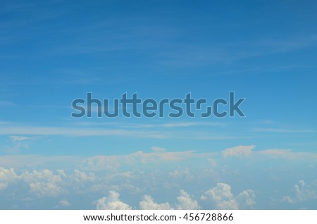 view from the airplane window ,blurry focus - stock photo