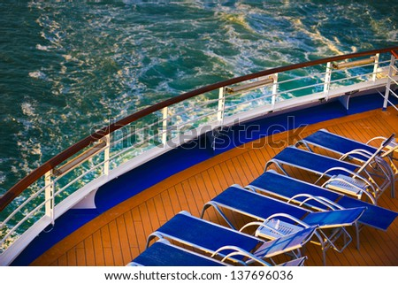 View from the Cruise Deck - stock photo