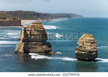 view from the great ocean road Australia