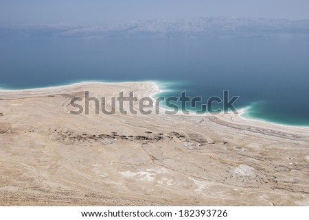 View from the height of the Dead Sea