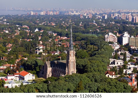 View from the helicopter for Buenos Aires, Argentina - stock photo