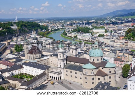 View from the Hohensalzburg Castle - Salzburg, Austria - stock photo