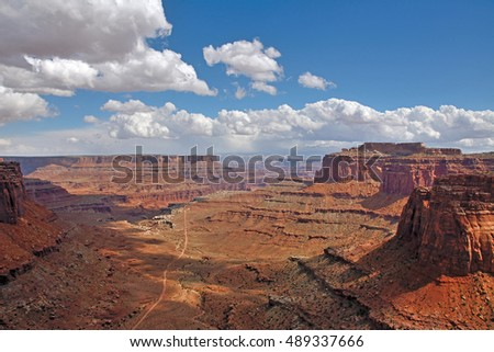 View from the Island in the Sky at Canyonlands National Park Utah