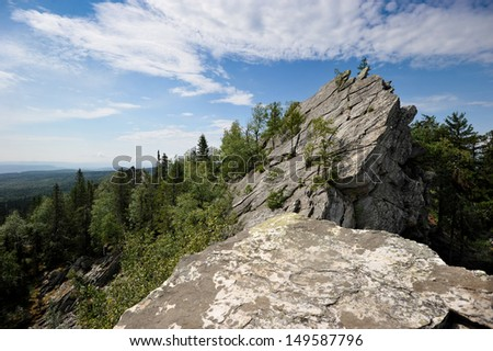 view from the mountain - South Ural