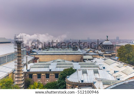 View from the top of the Cinquantenaire in Brussels, Belgium