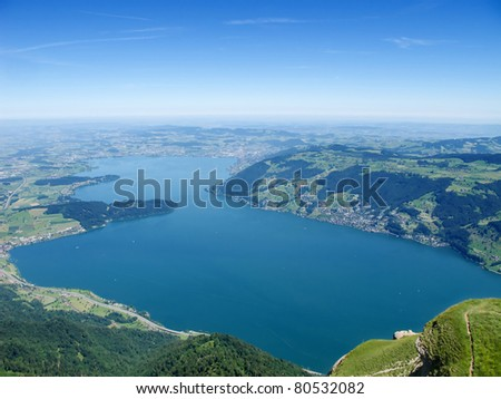 View from the top of the Rigi mountain