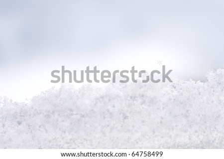 View from the window covered with snowflakes - stock photo