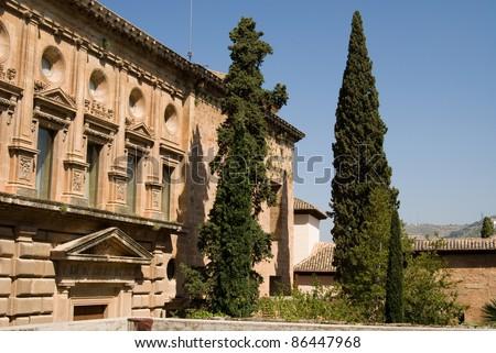 View in Alhambra, Granada - stock photo