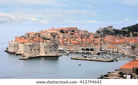 view in Dubrovnik, Croatia - stock photo