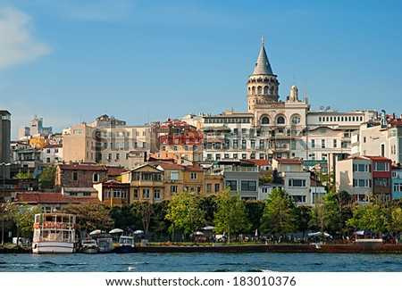 View in Istanbul, Galata Tower  - stock photo